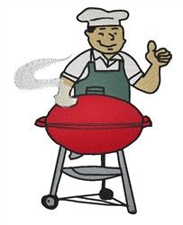 BBQ Guy embroidery design