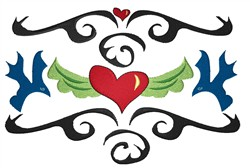 Hearts And Birds embroidery design