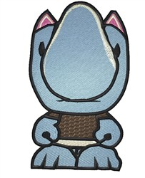 Robot Rhino embroidery design
