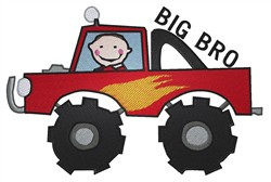 Monster Truck Big Bro embroidery design