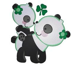 Irish Panda Bears embroidery design