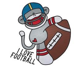 Sock Monkey Football embroidery design