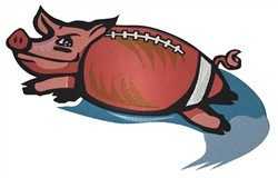 Pigskin Football embroidery design