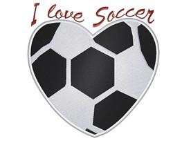 I Love Soccer embroidery design