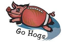 Pigskin Football embroidery design