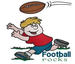 Football Rocks embroidery design