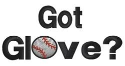 Baseball Got Glove embroidery design