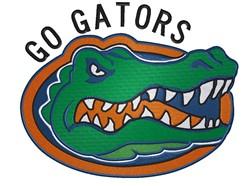 Go Gators Mascot embroidery design