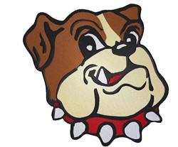 Cute Bulldog embroidery design