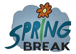 Spring Break embroidery design