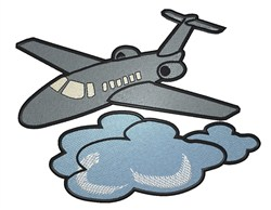 Airplane & Cloud embroidery design