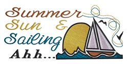 Summer Sun embroidery design