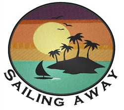 Sailing Away embroidery design