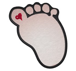 Footprint embroidery design
