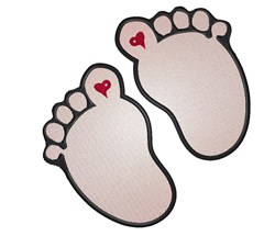 Two Footprints embroidery design