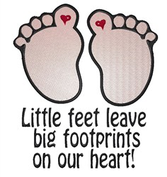 Little Feet embroidery design