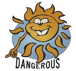 Dangerous embroidery design