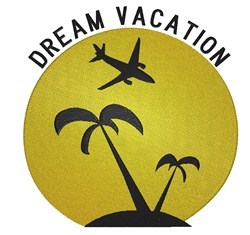 Dream Vacation embroidery design