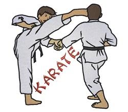Martial Art Karate embroidery design