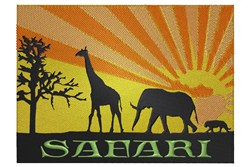 African Scene Safari embroidery design