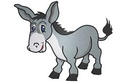 Cartoon Donkey embroidery design