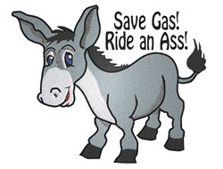 Save Gas Donkey embroidery design