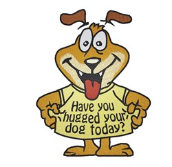 Hug Your Dog embroidery design