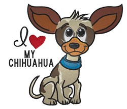 My Chihuahua embroidery design