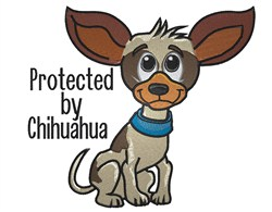Chihuahua Protected embroidery design