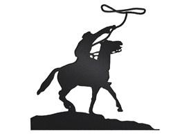 Lasso Cowboy Silhouette embroidery design
