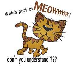 Cartoon Cat Meow embroidery design