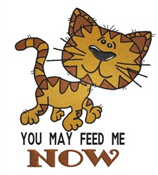 Feed Me Cat embroidery design