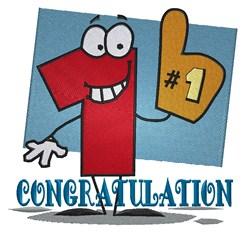 Congratulation #1 embroidery design