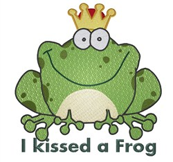 I Kissed a Frog embroidery design