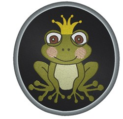 Frog Prince Oval embroidery design