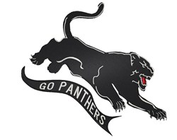 Go Panthers embroidery design