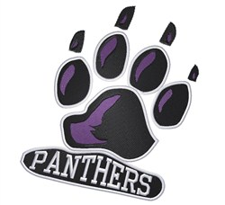 Panthers Paw embroidery design
