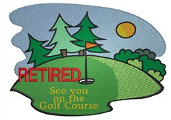 Golf Course Retired embroidery design