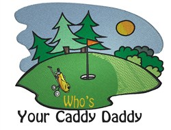 Golf Course Caddy embroidery design