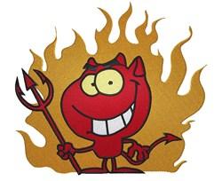 Smiling Devil embroidery design