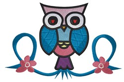 Pearched Owl embroidery design