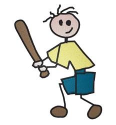 Stickboy Baseball embroidery design