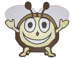 Smiling Bug embroidery design