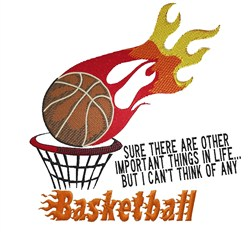Basketball Flames embroidery design