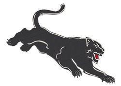 Attacking Panther XL embroidery design