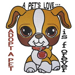 Adopt A Puppy embroidery design