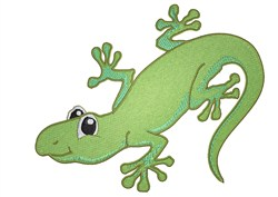 Gecko embroidery design