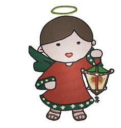 Little Christmas Angel embroidery design