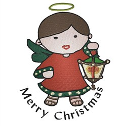 Merry Christmas Angel embroidery design