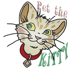 Pet The Kitty embroidery design